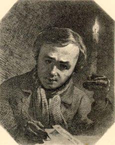 Тарас Шевченко, 1845 р. Автопортрет.
